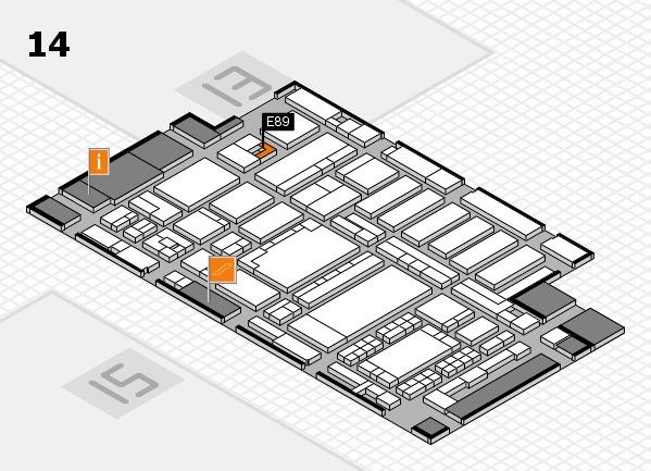 ProWein 2018 Hallenplan (Halle 14): Stand E89