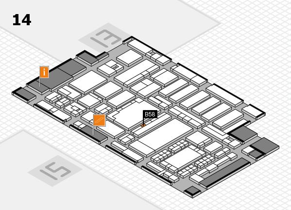 ProWein 2018 Hallenplan (Halle 14): Stand B58
