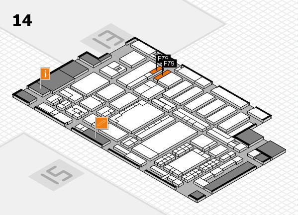 ProWein 2018 Hallenplan (Halle 14): Stand F79