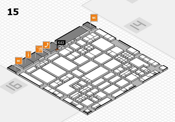 ProWein 2018 Hallenplan (Halle 15): Stand K43