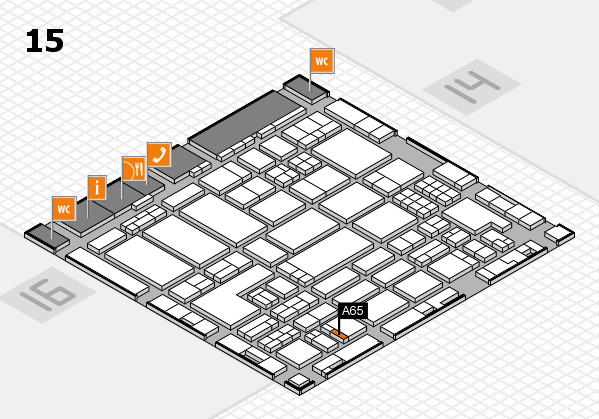 ProWein 2018 hall map (Hall 15): stand A65
