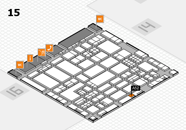 ProWein 2018 hall map (Hall 15): stand A52