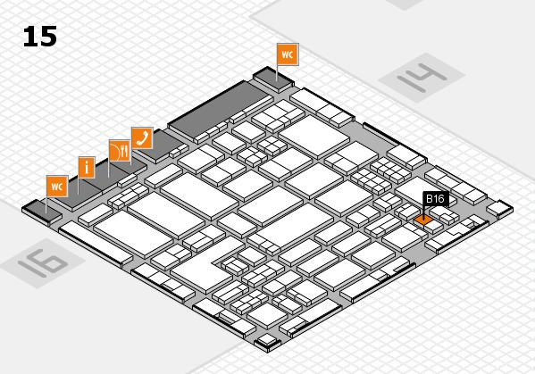 ProWein 2018 hall map (Hall 15): stand B16