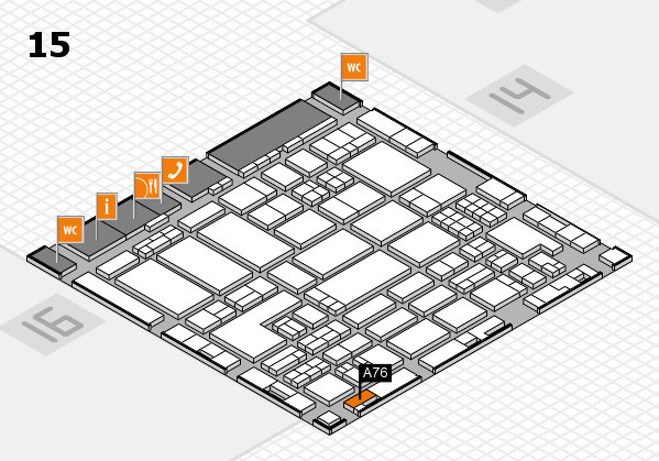 ProWein 2018 hall map (Hall 15): stand A76