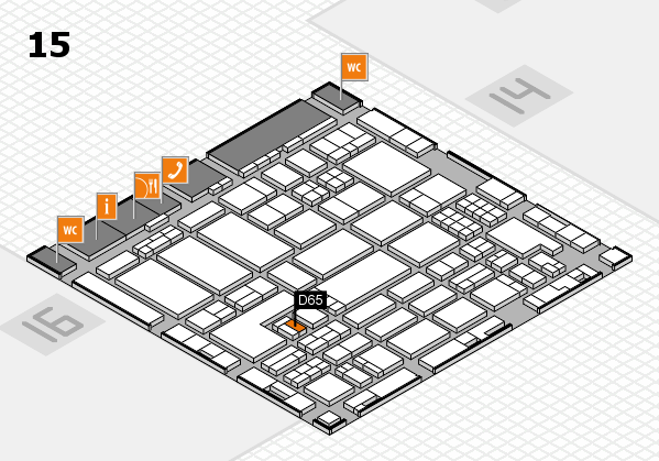 ProWein 2018 hall map (Hall 15): stand D65