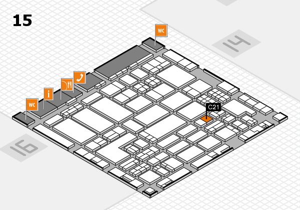 ProWein 2018 hall map (Hall 15): stand C21