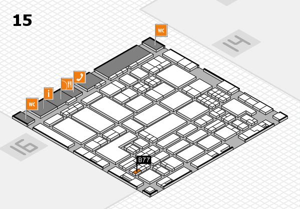 ProWein 2018 hall map (Hall 15): stand B77