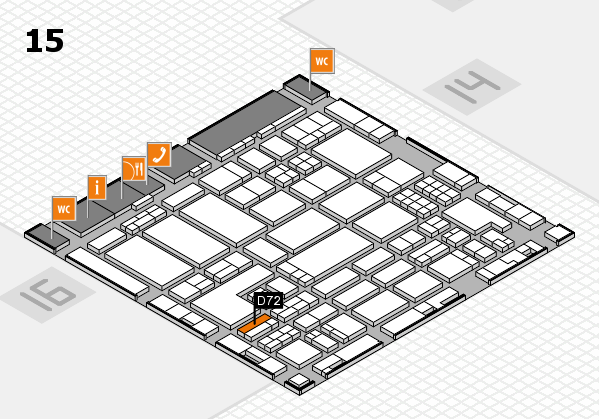 ProWein 2018 hall map (Hall 15): stand D72