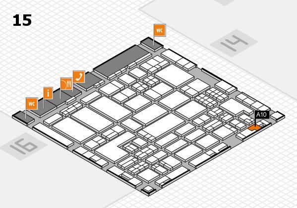 ProWein 2018 Hallenplan (Halle 15): Stand A10