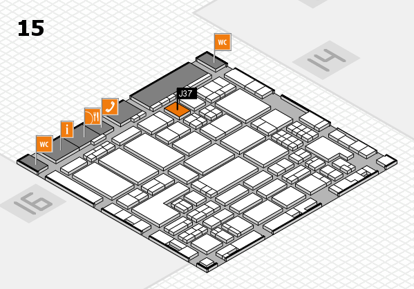 ProWein 2018 hall map (Hall 15): stand J37