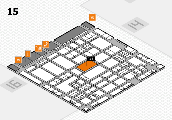 ProWein 2018 hall map (Hall 15): stand F41