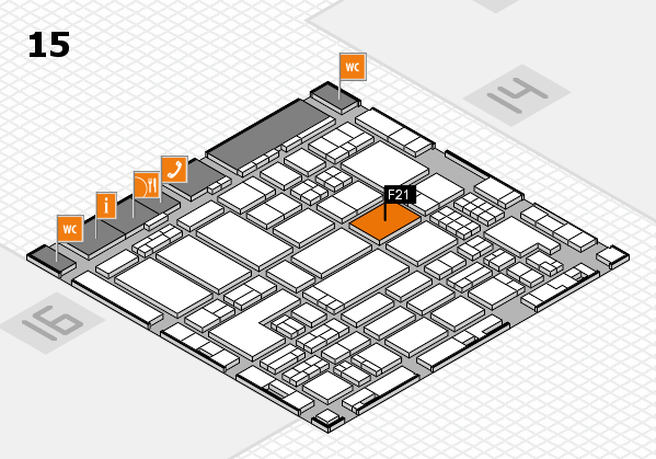 ProWein 2018 hall map (Hall 15): stand F21