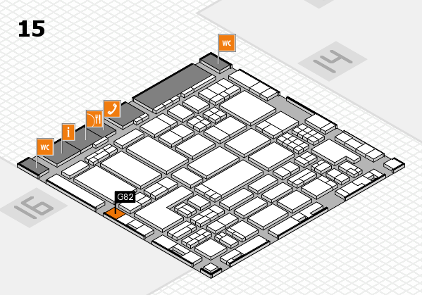 ProWein 2018 hall map (Hall 15): stand G82