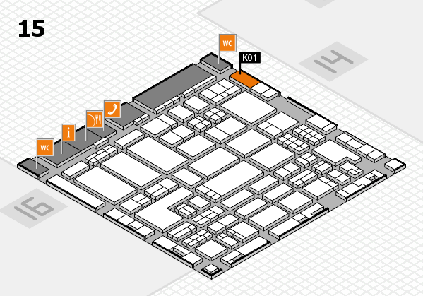 ProWein 2018 hall map (Hall 15): stand K01