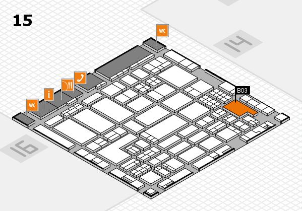 ProWein 2018 hall map (Hall 15): stand B03