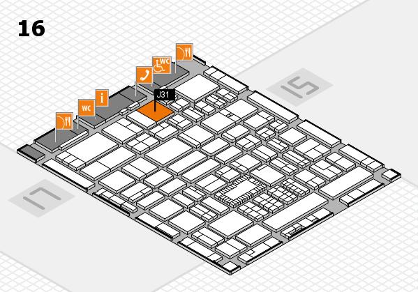 ProWein 2018 Hallenplan (Halle 16): Stand J31