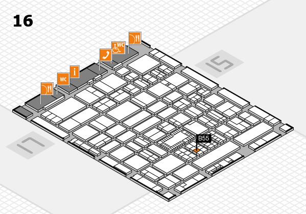ProWein 2018 hall map (Hall 16): stand B55