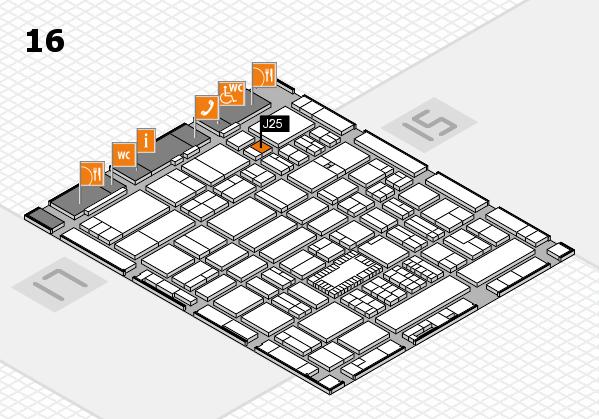 ProWein 2018 hall map (Hall 16): stand J25