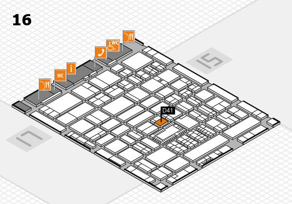 ProWein 2018 Hallenplan (Halle 16): Stand D41