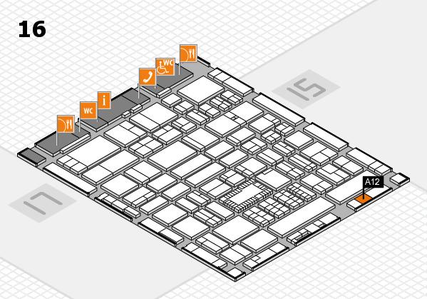 ProWein 2018 Hallenplan (Halle 16): Stand A12