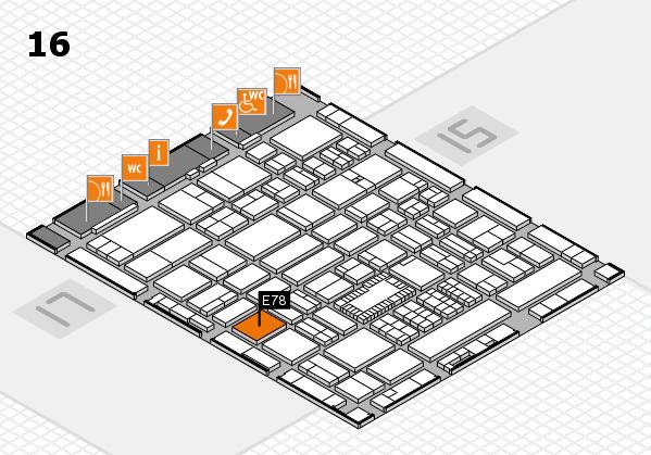 ProWein 2018 Hallenplan (Halle 16): Stand E78