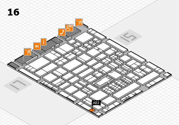 ProWein 2018 hall map (Hall 16): stand A83