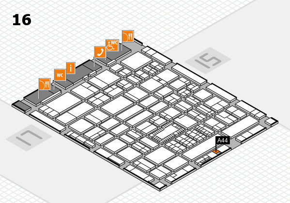 ProWein 2018 hall map (Hall 16): stand A44