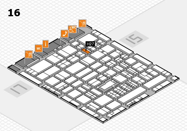 ProWein 2018 Hallenplan (Halle 16): Stand H27