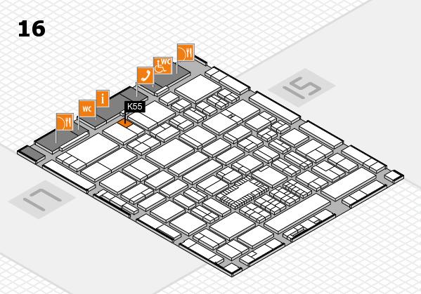 ProWein 2018 Hallenplan (Halle 16): Stand K55