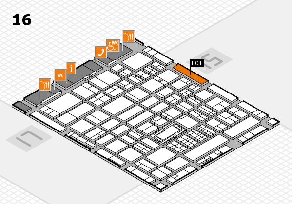 ProWein 2018 hall map (Hall 16): stand E01