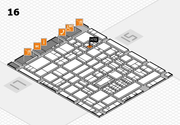 ProWein 2018 Hallenplan (Halle 16): Stand H19