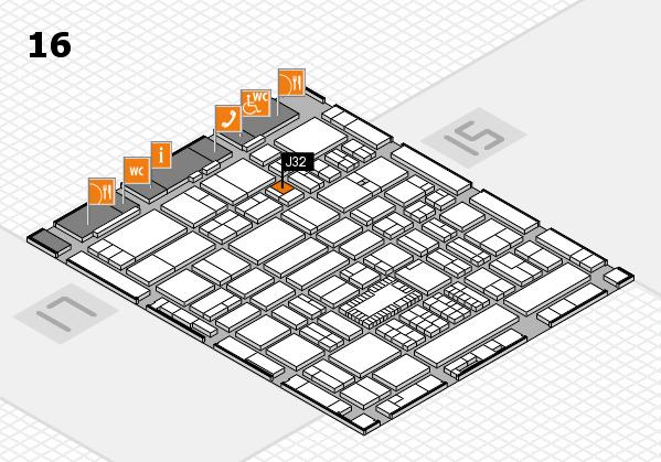 ProWein 2018 hall map (Hall 16): stand J32