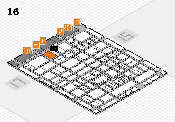 ProWein 2018 hall map (Hall 16): stand J57