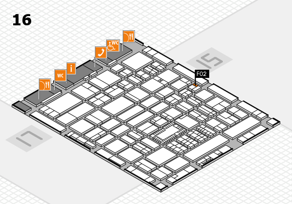 ProWein 2018 hall map (Hall 16): stand F02