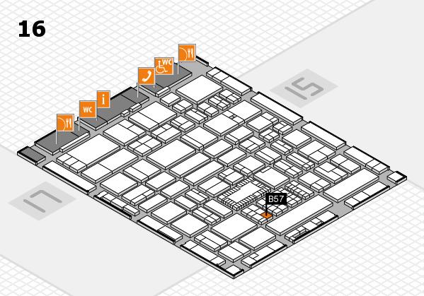 ProWein 2018 hall map (Hall 16): stand B57