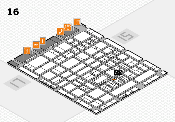 ProWein 2018 hall map (Hall 16): stand C40