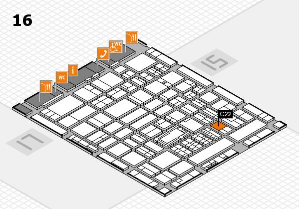 ProWein 2018 Hallenplan (Halle 16): Stand C22