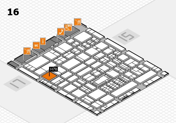 ProWein 2018 Hallenplan (Halle 16): Stand H78