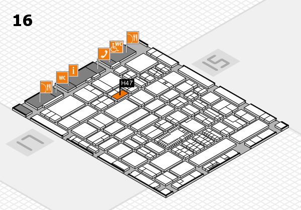ProWein 2018 Hallenplan (Halle 16): Stand H47