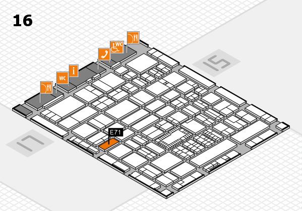 ProWein 2018 Hallenplan (Halle 16): Stand E71