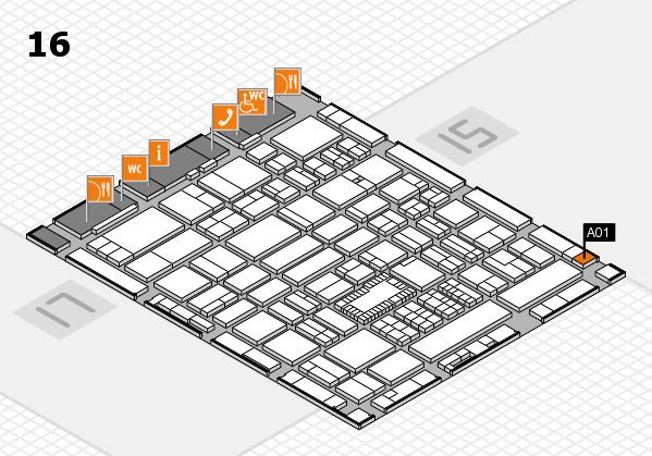 ProWein 2018 Hallenplan (Halle 16): Stand A01