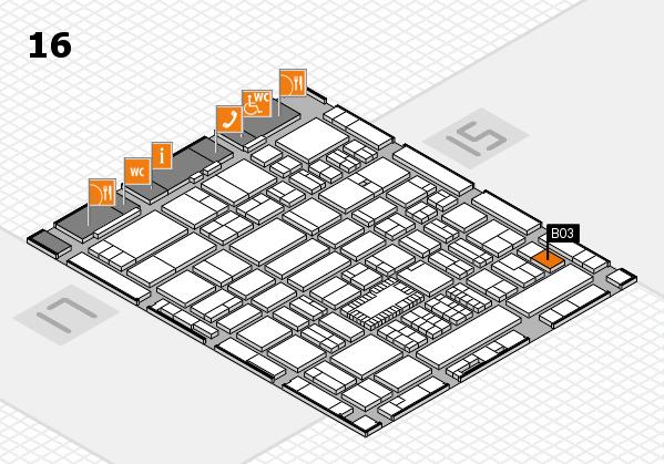 ProWein 2018 hall map (Hall 16): stand B03