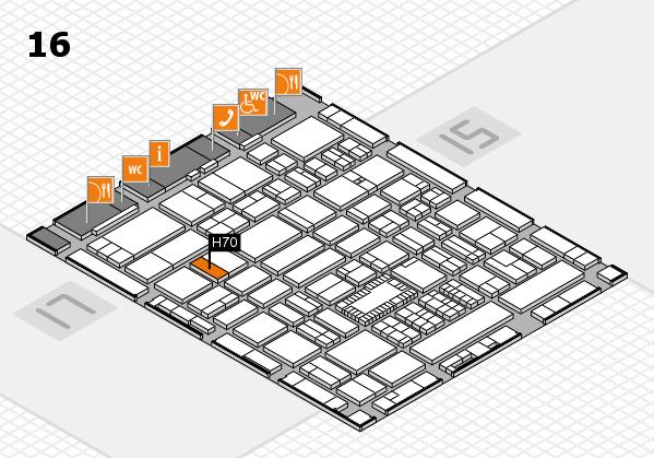 ProWein 2018 Hallenplan (Halle 16): Stand H70