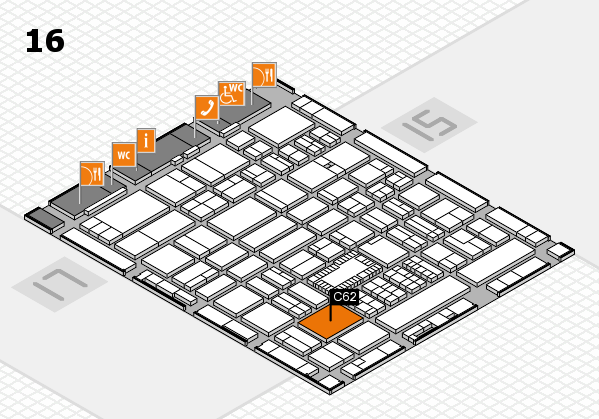 ProWein 2018 hall map (Hall 16): stand C62