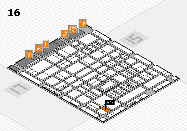 ProWein 2018 hall map (Hall 16): stand A77
