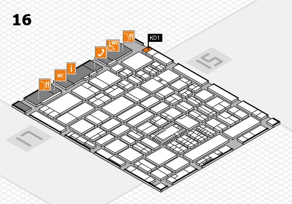 ProWein 2018 hall map (Hall 16): stand K01