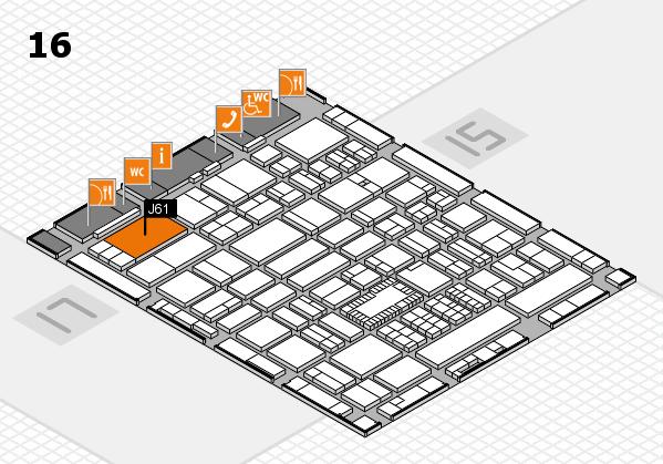ProWein 2018 hall map (Hall 16): stand J61