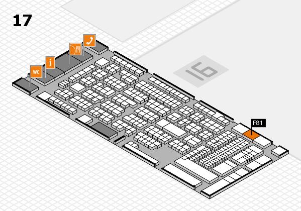 ProWein 2018 Hallenplan (Halle 17): Stand F81