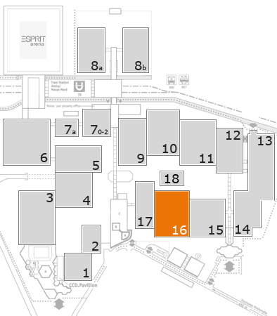ProWein 2018 fairground map: Hall 16