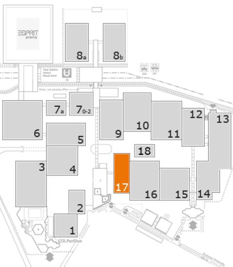 ProWein 2017 fairground map: Hall 17
